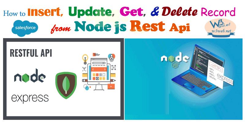 creating a rest api using node.js express -- w3web.net