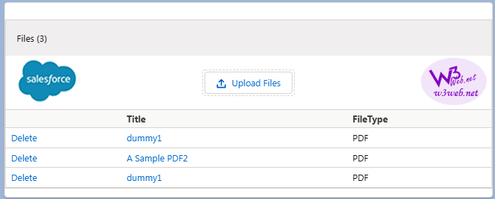 upload delete and preview files attachments lightning component -- w3web.net