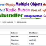Lightning aura:handler change method to Call Multiple Apex Methods for different type of custom object uses of selected radio button value in aura component controller Salesforce | how to display multiple objects from selected radio button in lightning component Salesforce