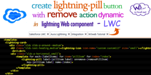 create lightning pill with remove in lwc -- w3web.net