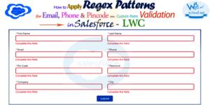 apply regex patterns on custom form validation in Salesforce lwc -- w3web.net
