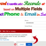 Create Duplicate Rule & Matching Rule to Prevent Insert/Update Duplicate Records on Contact sObject based on Contact Email and Contact Phone in Salesforce |  preventing duplicate records of contact based on multiple fields phone and email help by admins in Salesforce
