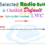 get selected radio button value and checked default in lwc -- w3web.net